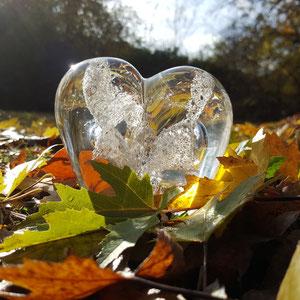 Impressionen Kristallbestattung Kristall Asche Herz