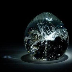 Impressionen Kristallbestattung Kristall Asche Oval